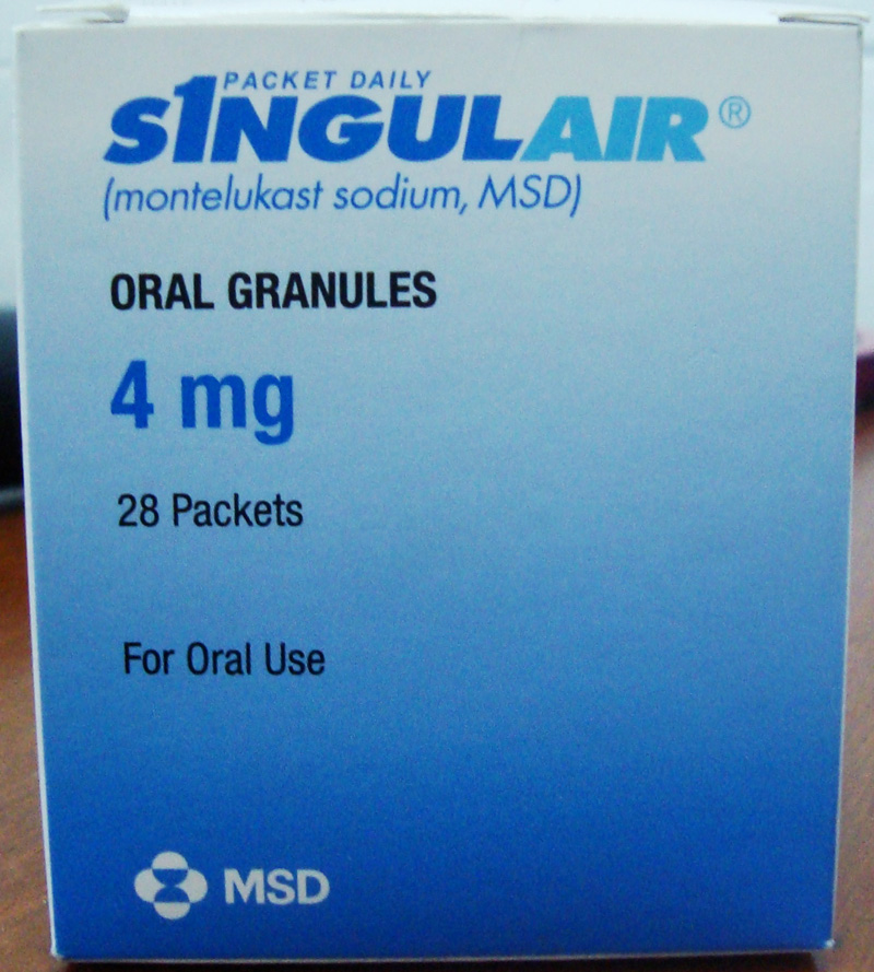 is singulair paediatric a steroid